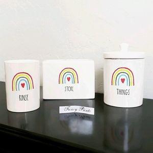 Rae Dunn Bathroom Set Rainbow new